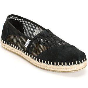 Tom's Perforated Flats w/ Suede Panels Size 5.5